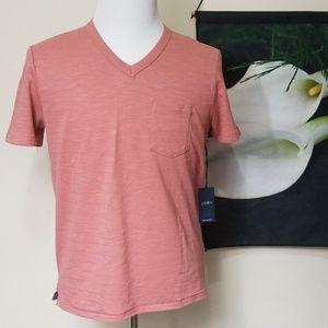 NWT Paper Cloth and Denim V Neck Short Sleeve Top